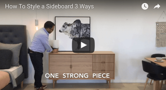 Sideboard Styling: 3 Ways