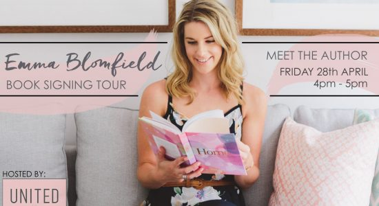 EMMA BLOMFIELD BOOK SIGNING TOUR AT UNITED INTERIORS