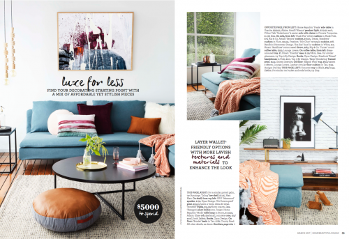 Home Beautiful Magazine United Interiors Luxe for Less